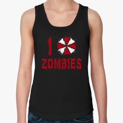 Женская майка I Love Zombies