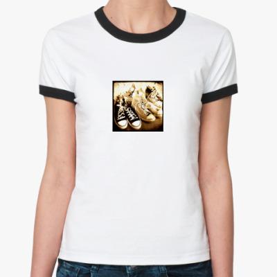 Женская футболка Ringer-T верю в кроссы
