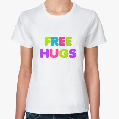 Классическая футболка Free hugs!