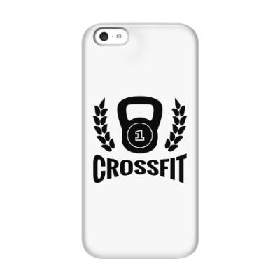 Чехол для iPhone 5c Кроссфит логотип с гирей
