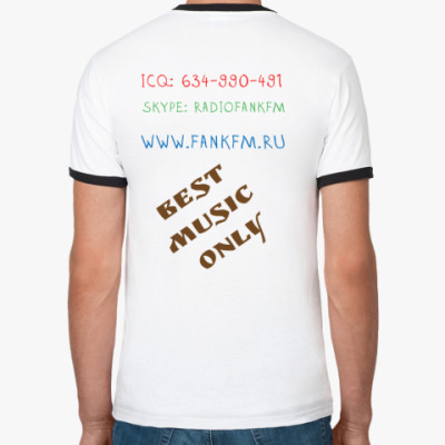 Ringer-T Мужская (бел/чёрн)