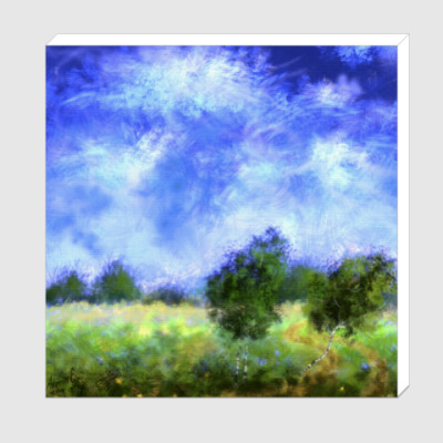 Холст Пейзаж с облаками