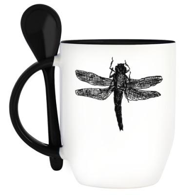 Кружка с ложкой Dragonfly