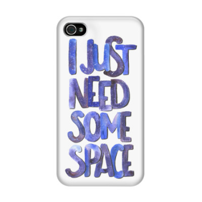 Чехол для iPhone 4/4s I just need some space