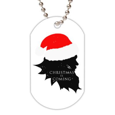 Жетон dog-tag Christmas is coming
