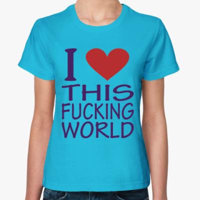Женская футболка Love World