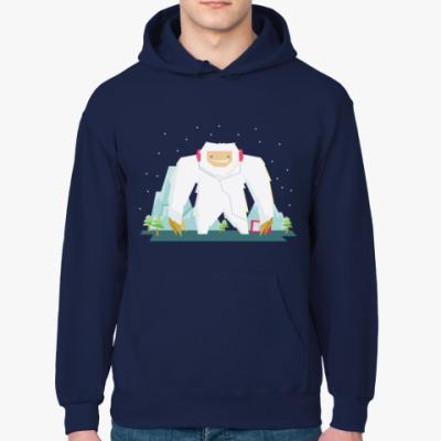 Толстовка худи  Снежный человек Етти зимний дизайн