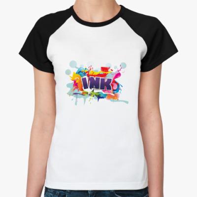 Женская футболка реглан   Ink