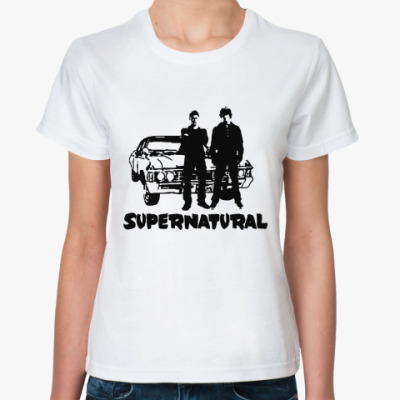 Классическая футболка Supernatural Impala