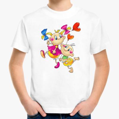 Детская футболка ДЕТИ С СЕРДЕЧКАМИ