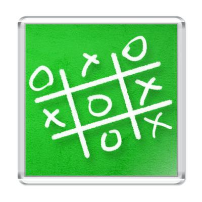Магнит  6,5x6,5 Крестики-нолики