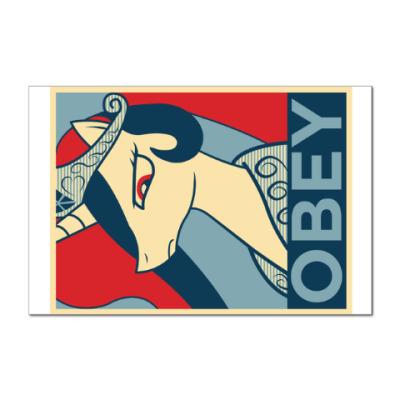 Наклейка (стикер) Obey!