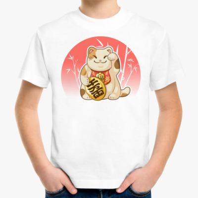 Детская футболка Кот счастья