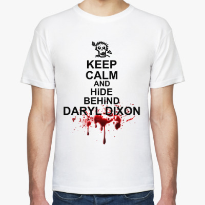 Футболка Keep calm and hind behind Daryl Dixon