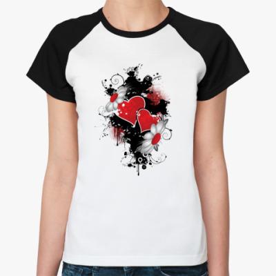 Женская футболка реглан  HeartLove