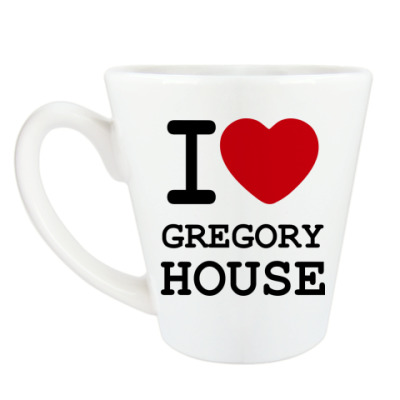 Чашка Латте I Love Gregory House