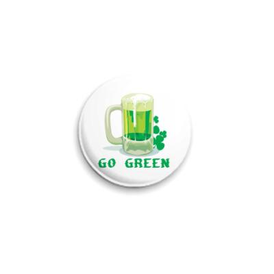 Значок 25мм  'Зеленое Пиво'