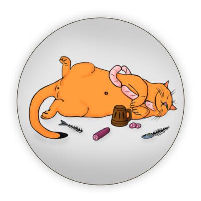 Костер (подставка под кружку) 'Сытый кот'