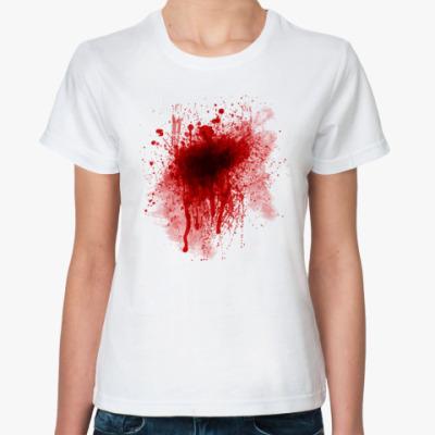 Классическая футболка Кровь