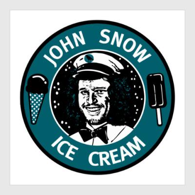Постер Джон Сноу - Мороженое