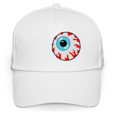 Кепка бейсболка белая кепка МИШКА глаз