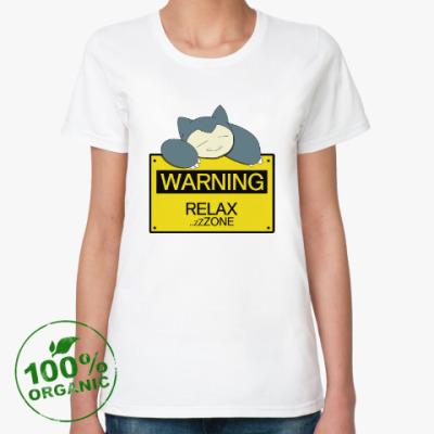 Женская футболка из органик-хлопка Зона релакса