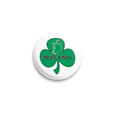 Значок 25мм Трилистник Ирландия