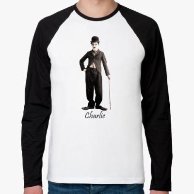 Футболка реглан с длинным рукавом ``Чарли`` мужская футболка