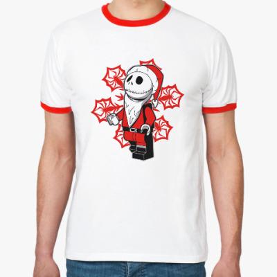 Футболка Ringer-T Санта скелет