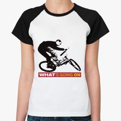 Женская футболка реглан BMX