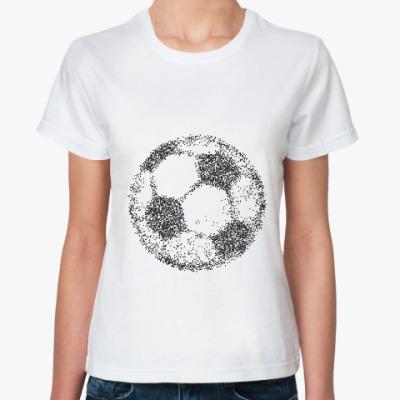 Классическая футболка Футбольный мяч