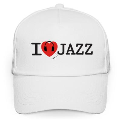 Кепка бейсболка Кепка I Love Jazz (Джаз)
