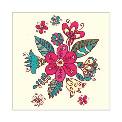 Наклейка (стикер) Цветы