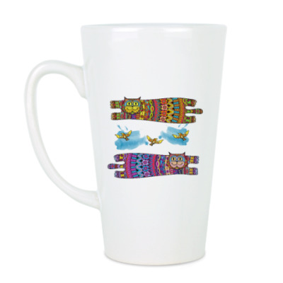 Чашка Латте Галлюциногенные коты