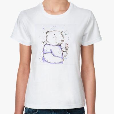Классическая футболка Медведь с мороженым