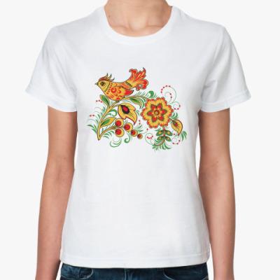 Классическая футболка  'Золотой петушок'