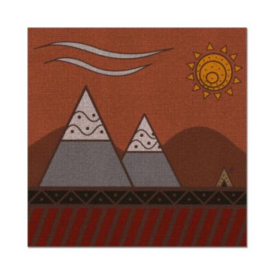 Наклейка (стикер) 'Calm mountains'