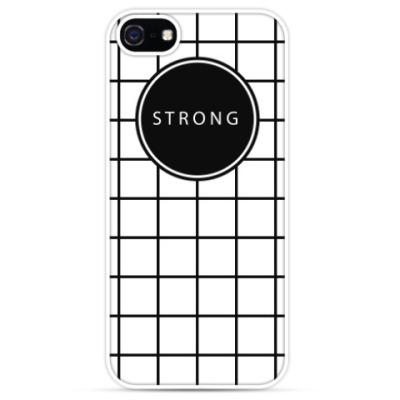 Чехол для iPhone Минималистичный принт STRONG