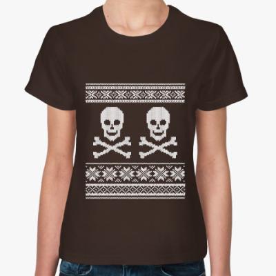 Женская футболка Черепа
