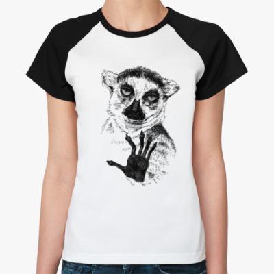 Женская футболка реглан Узбагойся