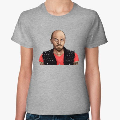 Женская футболка Ленин хиппи