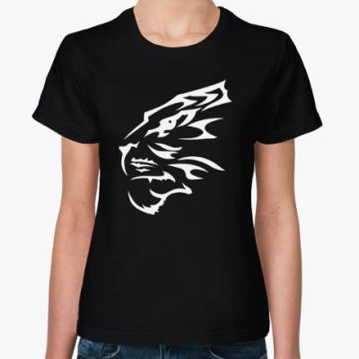 Женская футболка Тигр узор
