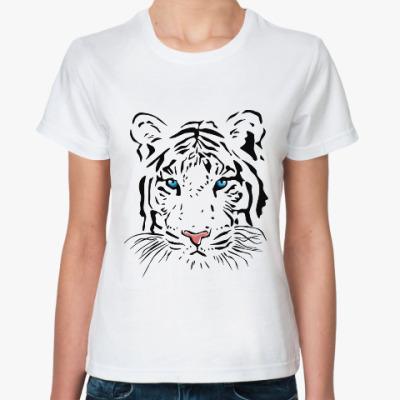 Классическая футболка Белый тигр