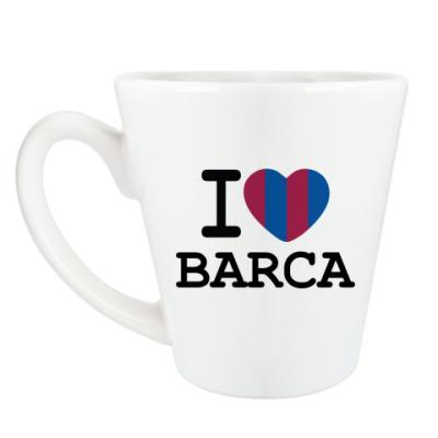 Чашка Латте I Love Barca