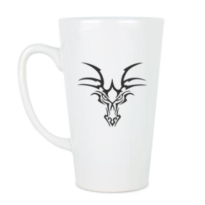 Чашка Латте Тату дракон