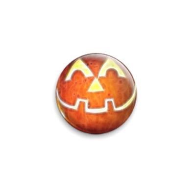 Значок 25мм  Тыква к Хэллоуину