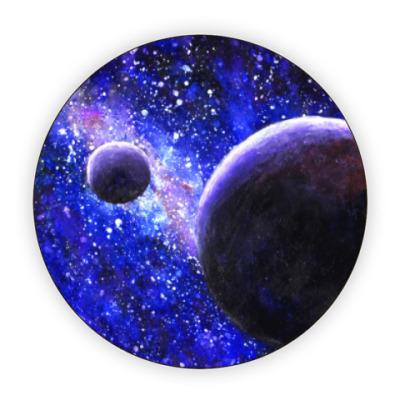 Костер (подставка под кружку) Акварель - Космос и Планеты