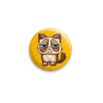 Значок 25мм Угрюмый кот Тард - Grumpy Cat