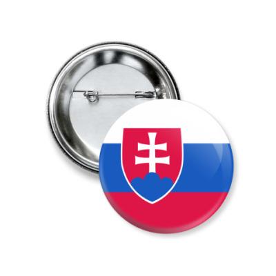 Значок 37мм Словакия