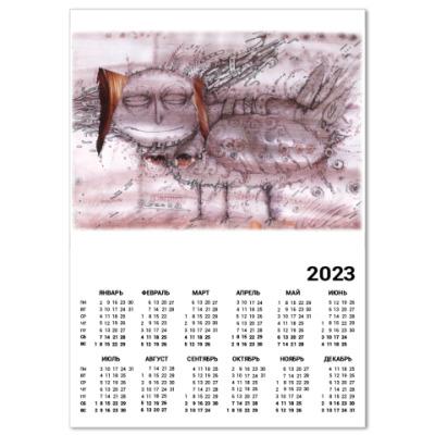 """Календарь  A4  """"Сирин"""""""